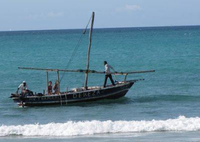 dekeza dhows Kipepeo Beach  Sinda Island